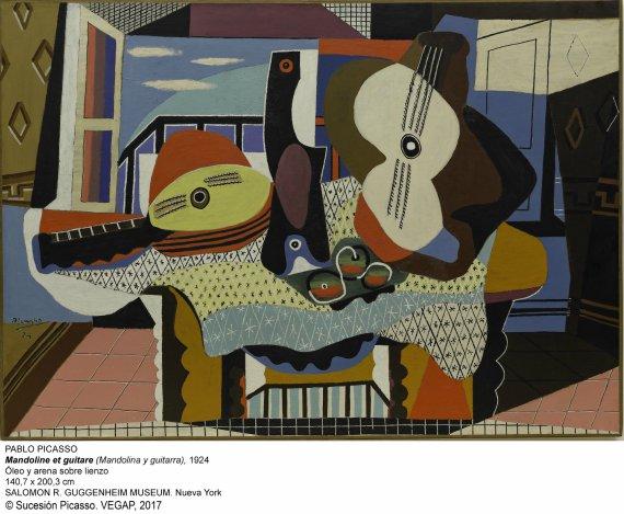Mandolina y Guitara-1924-Pablo Picaso