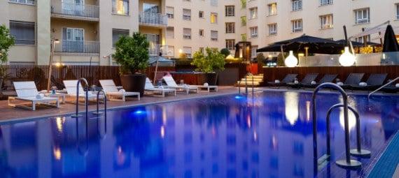 La famosa piscina del Hotel Wellington