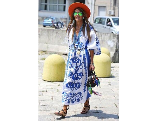 Anna Dello Russo con un vestido Vitakin