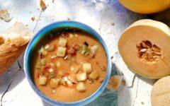 sopa fría de melón con puerros