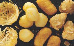 croquetas de queso con manzana