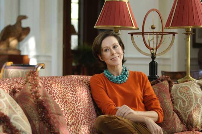 Carolyne Roehm en su casa de Weatherstone. Imágen Ken Bartle