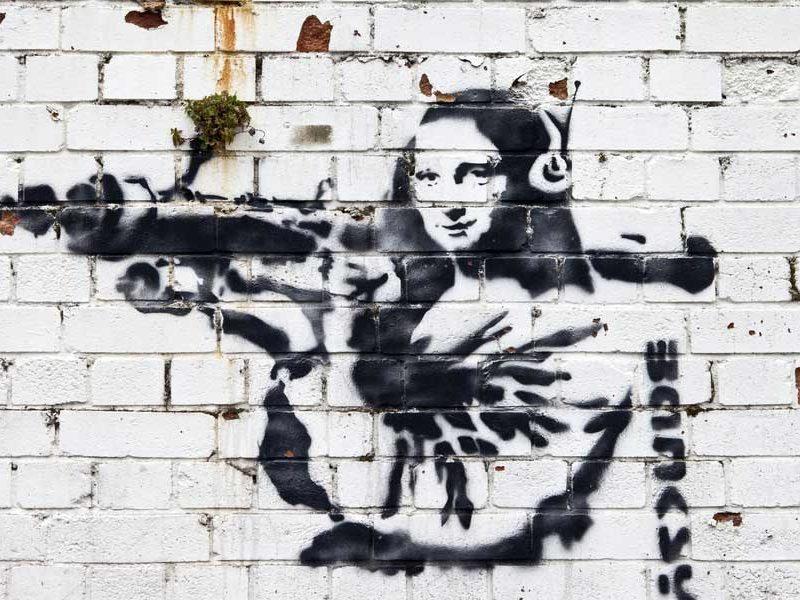 graffiti street style bansky