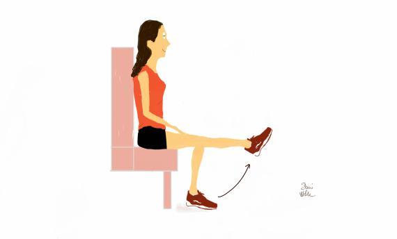 rodillas del corredor