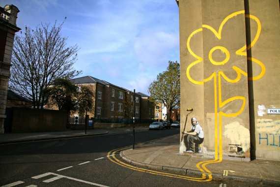 grafiti street style bansky