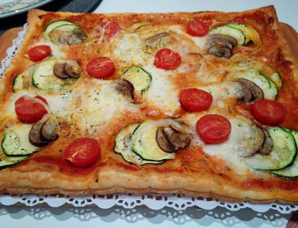 coca-pizza de verduras
