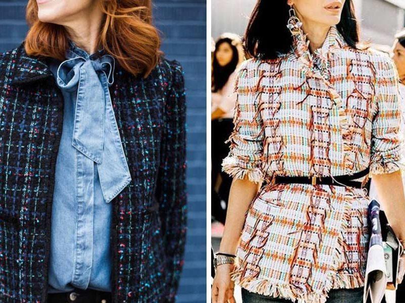 chaquetas estilo Chanel