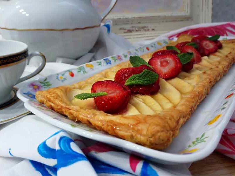 tarta exprés de manzana