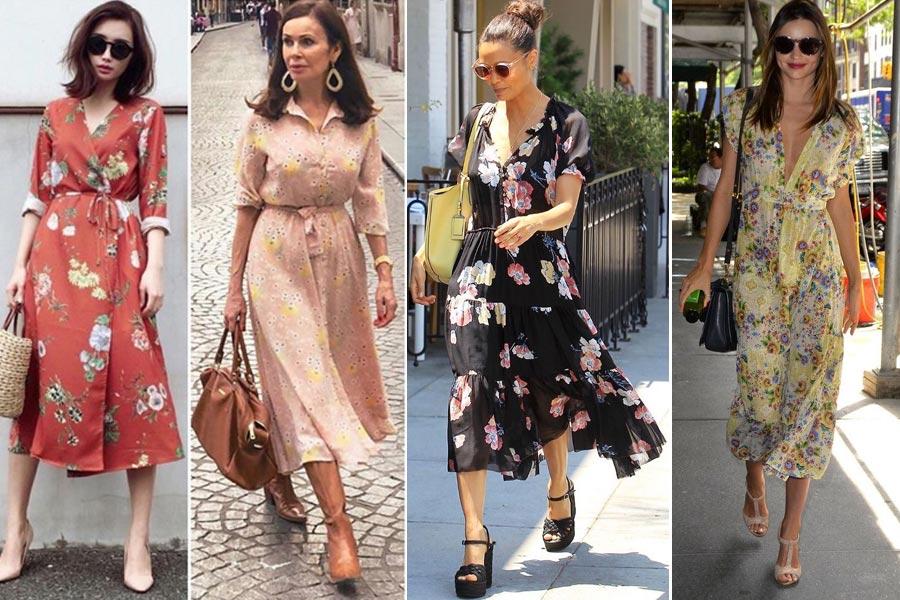 c94c77d68 Vestido midi estampado floral de Zara ¿cuál prefieres? - Babú Magazine