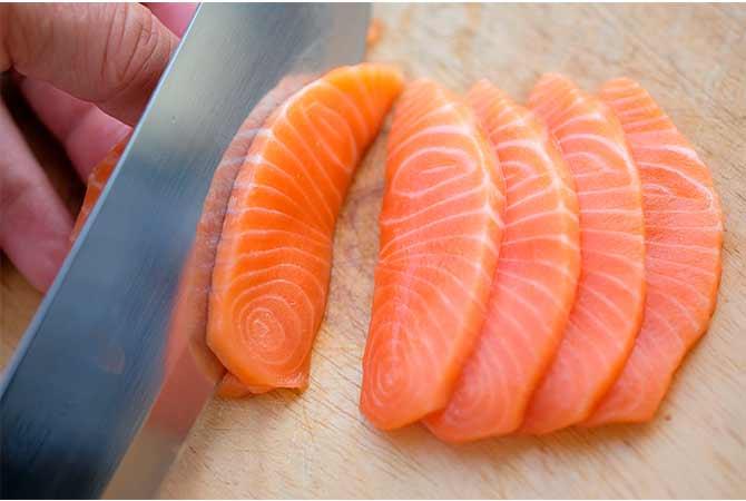 salmón con vitamina