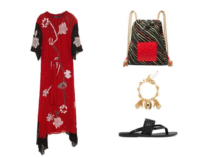 Vestidos rojos y accesorios
