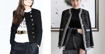 chaquetas estilo Chanel en invierno