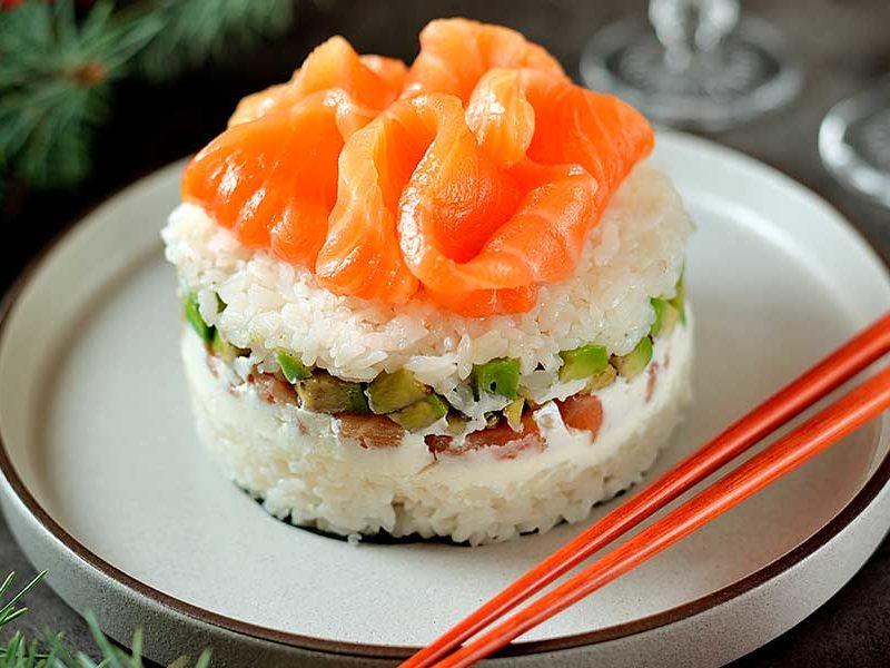 tarta de sushi