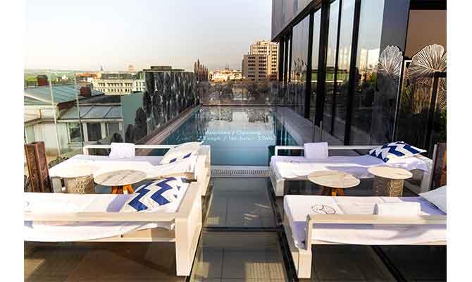terraza hotel VP Plaza España Design