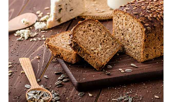 desayuno sano pan integral