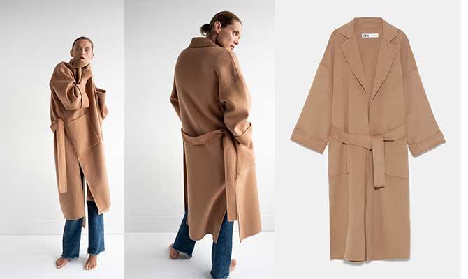 abrigo camel mujer