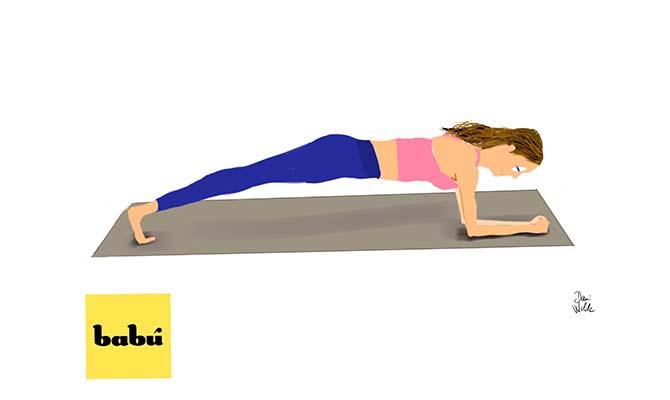 ejercicio superman para fortalecer las lumbares