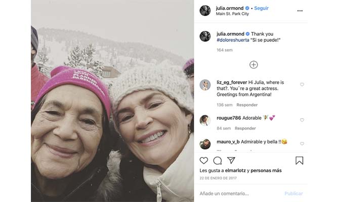 Julia Ormond instagram