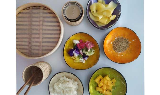 mango rice ingredientes
