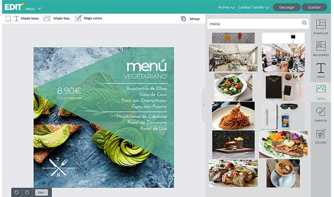 edit-org menus para restaurantes