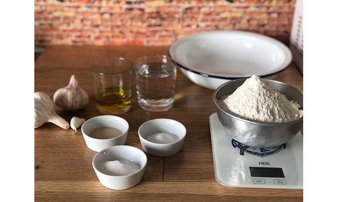 ingredientes para pan de ajo