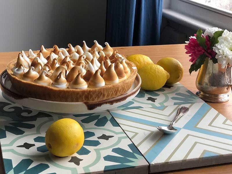 receta casera tarta de limón