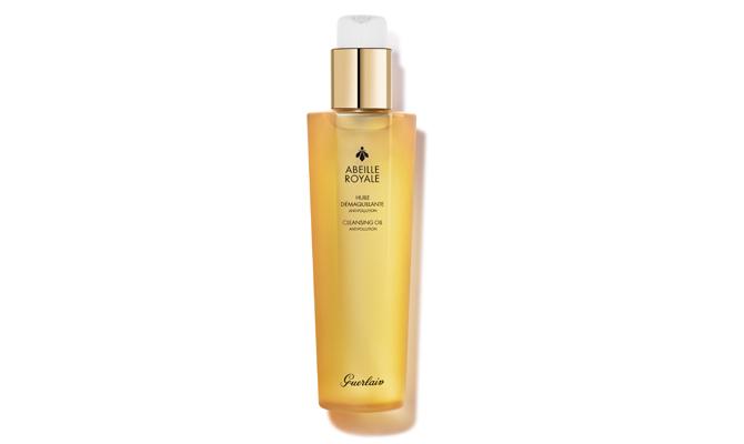 Aceite Desmaquillante Abeille Royale de Guerlain para pieles maduras. Limpia sin deshidratar la piel