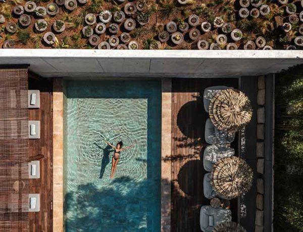 vista aerea del hotel OKU Ibiza