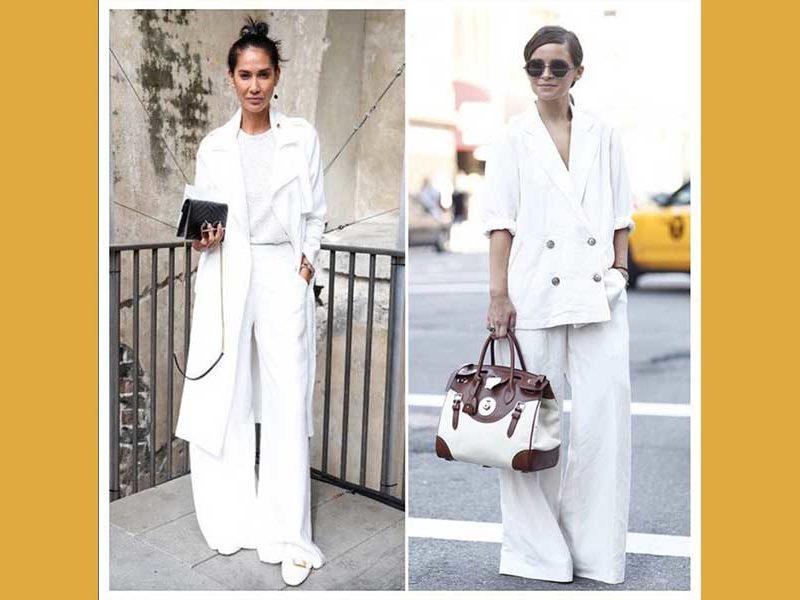 mujeres vestidas de blanco