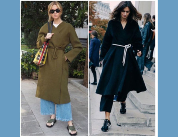 mujeres con un nudo en el abrigo