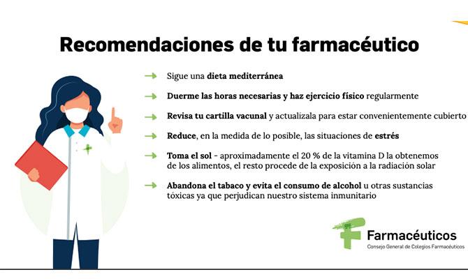 recomendaciones del farmacéutico sobre sistema inmunitario
