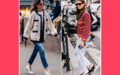 mujer vestidas con estilo Chanel