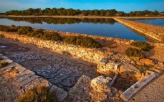 vista del parque natural Ses Salinas en Formentera