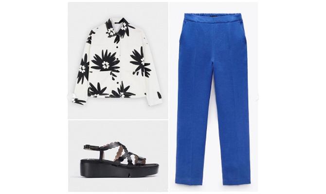Zapatos Wonders, camisa Parfois, pantalon Zara
