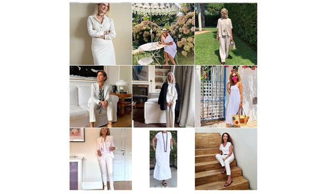 influencers de más de 50 vestidas de blanco