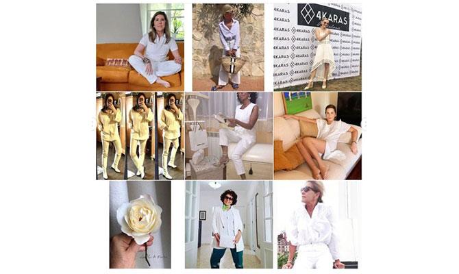 Mujeres de más de 50 vestidas de blanco para decir gracias