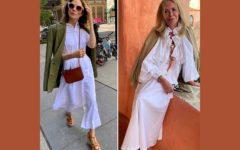 dos mujeres maduras vestidas de blanco