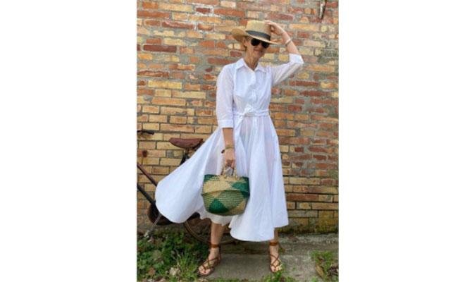 Vestido blanco de Punto Vela