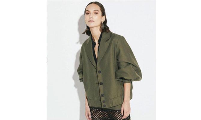Vestido verde de Laura Aparicio