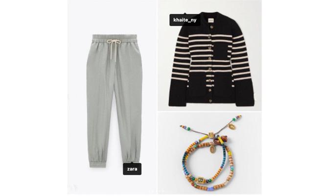 Chaqueta de Khaite y pantalón de Zara