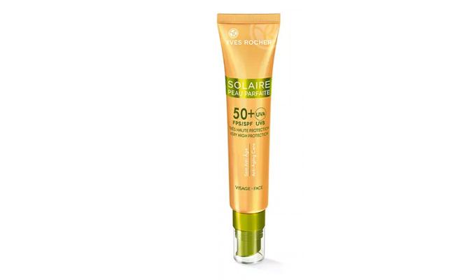 """Solaire Peau Parfaite"" crema protectora antiedad SPF50+ de Yves Rocher"