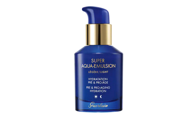 """""""Super Aqua-Emulsion"""" de Guerlain hidratante ligera"""