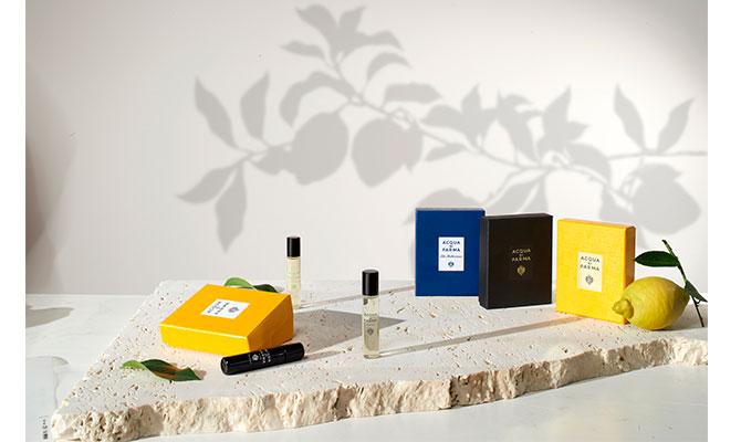 """""""Discovery Set"""" de Aqua di Parma perfumes de verano para llevar de viaje set descubrimiento"""