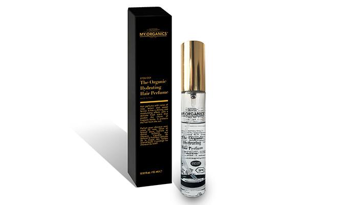 """""""The Organic Hydrating Hair Perfume"""" de My.Organics perfume para el cabello,  hidrata y elimina el encrespamiento Perfumes de verano para llevar de viaje"""