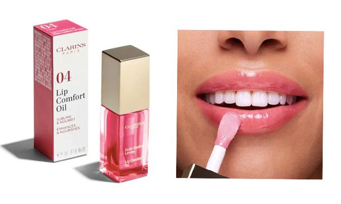 """""""Éclat Minute Huile Confort Lèvres"""" de Clarins tratamiento para labios muy hidratante y confortable."""