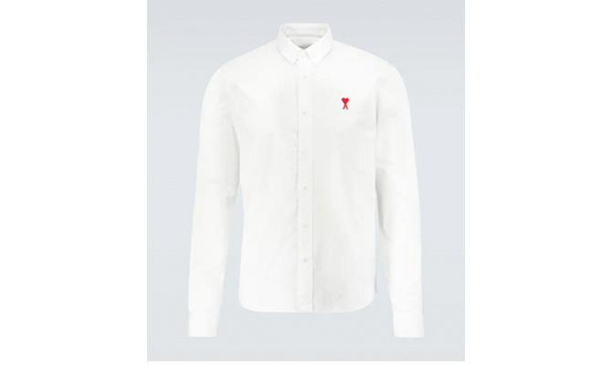 camisa blanca casual  hombre Ami Paris