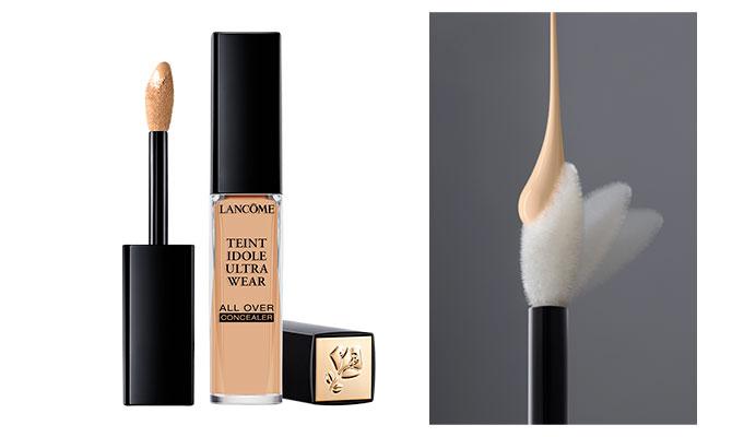 """""""Teint Idole Ultra Wear All Over Concealer"""" de Lancôme nuevo corrector de alta cobertura perfecto para ojeras rojeces e imperfecciones. Muy natural y fácil de aplicar. recomendado para pieles de más de 50"""