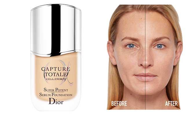 """Capture Totale Super Potent Serum Foundation"" de Dior un serum de maquillaje para pieles maduras"