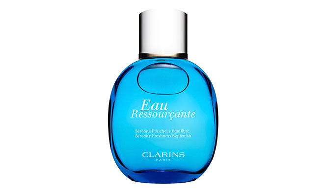 """Eau Ressourçante"" de Clarins relájate con esta fragancia. Aplícala cuando quieras conseguir momentos de calma."